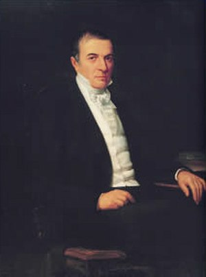 Cristóbal Mendoza - Official portrait of Cristóbal Mendoza by Martín Tovar y Tovar.