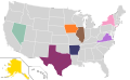 Presidential Candidate Home State Locator Map, 1992 (United States of America).png