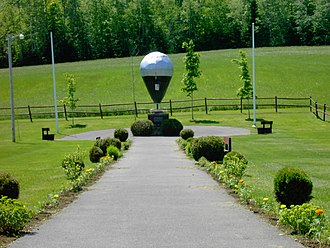 Presque Isle, Maine - Commemorative model of Double Eagle II
