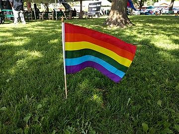 Pride flag at ECM Pride 2018.jpg