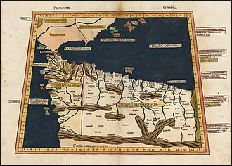 Tangier - Ptolemy's 1st African map, showing Roman Mauretania Tingitana