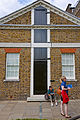 Prime Meridian markings at rear of Royal Greenwich Observatory.jpg