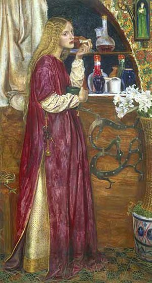 Sing a Song of Sixpence - The Queen Was in the Parlour, Eating Bread and Honey, by Valentine Cameron Prinsep.