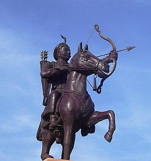 Prithviraja Vijaya - A statue of Prithviraja III