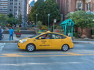 Toyota Prius in Vancouver, Canada