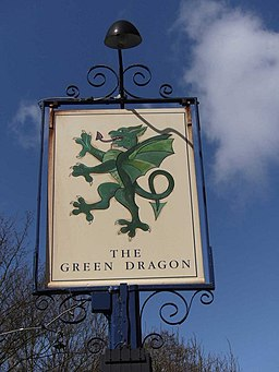 Pub sign of The Green Dragon - geograph.org.uk - 1248007