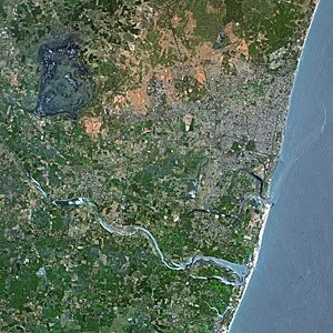 Puducherry by SPOT Satellite