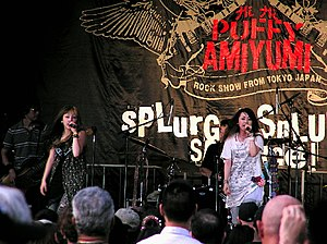 Puffy AmiYumi - Puffy performing in New York City in 2006.