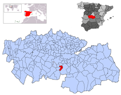 Location of Pulgar in the Province of Toledo