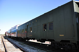 Troop sleeper - A Pullman-built troop sleeper at the Hoosier Valley Railroad Museum.