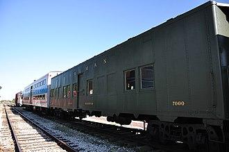 Troop sleeper - A Pullman-built troop sleeper at the Hoosier Valley Railroad Museum.