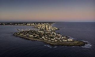 Punta del Este City in Maldonado, Uruguay