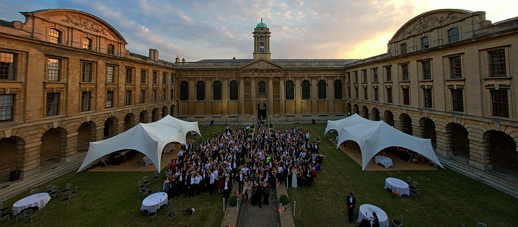 As dawn breaks, those attending the 2010 Ball at The Queen's College celebrate the end of another Oxford year.