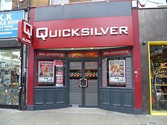 Quicksilver (company) - A Quicksilver branch in Wood Green, London.