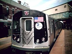 Train M à Brooklyn