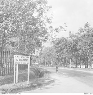 Sembawang Air Base - Image: RAF Sembawang entrance 1941
