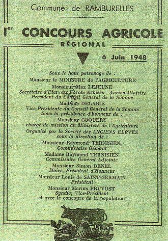 Ramburelles - Event from after World War I