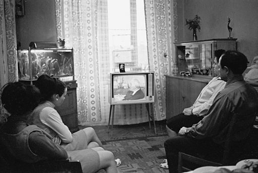 RIAN archive 714106 The Borshagin's at home