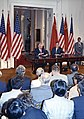 RIAN archive 782765 Mikhail Sergeyevich Gorbachev and George Bush at joint news conference.jpg