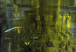 Research Institute of Atomic Reactors - Chemical treatment of processed nuclear fuel at the institute.