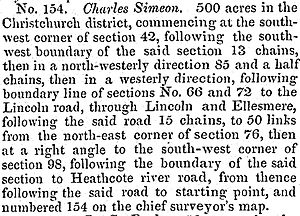 Charles Simeon (colonist) - Description of the land chosen by Simeon as it appeared in the Lyttelton Times
