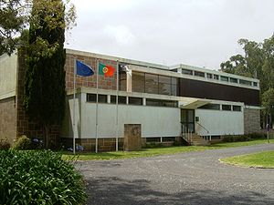 Santa Maria Island - The headquarters building for the Direcção Regional de Recursos Florestais in the Recreational Forest Reserve of Valverde