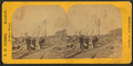 Railroad workers at a railroad construction area, by E. P. Libby.png