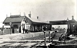 Lithgow railway station - The first Lithgow station