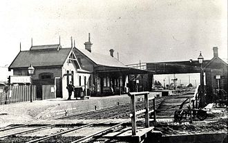 Lithgow railway station - The first Lithgow station.