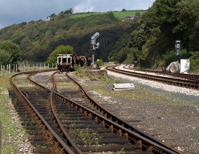 Railway sidings, Kingswear - geograph.org.uk - 1507928