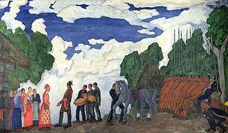 Kristjan Raud - Kalev Proposes Marriage, from the Kalevipoeg