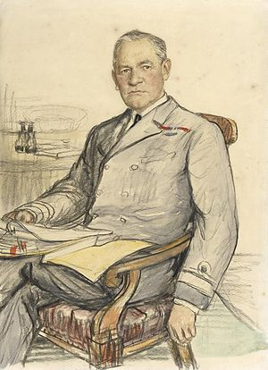 Hugh Tothill - 1918 portrait by Francis Dodd
