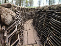 Reconstructed German trench at Bayernwald.jpg