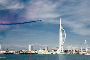 Red Arrows display at Portsmouth in July 2008 6.jpg
