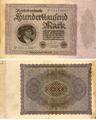 Reichsbanknote 100000 Mark Nr P 05113607 Februar 1923.png