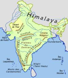 Carte De Linde Relief.Geographie De L Inde Wikipedia