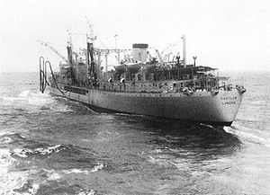 Replenishment oiler RFA Tideflow (A97) underway c1962.jpg