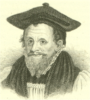 Canterbury cap - Archbishop Richard Bancroft in Canterbury cap.