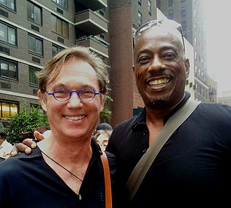 Richard Thomas (actor) - Thomas with opera star and activist Stacey Robinson in 2014.
