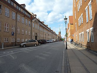 Rigensgade - A view down Åbenrå from the northern end of the street