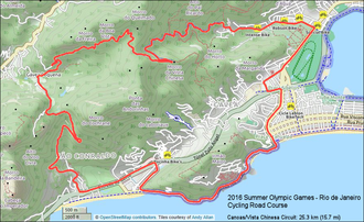 Cycling at the 2016 Summer Olympics – Men's individual road race - 2016 Olympic Cycling Vista Chinesa Circuit: 25.7 km