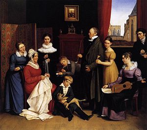 Carl Joseph Begas - Portrait of the Begas family