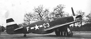 RAF Rivenhall - North American P-51B-5 Mustang, Serial 43-6830 of the 382d Fighter Squadron.