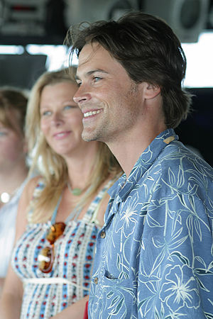 Rob Lowe - Lowe with wife Sheryl Berkoff in 2003