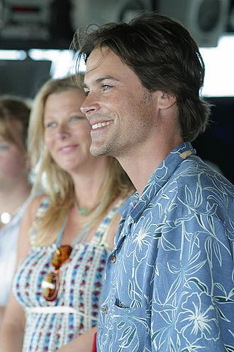 Rob Lowe - Lowe with wife Sheryl Berkoff in 2003