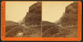 Rocks in Echo Canyon, (view west), Utah. U.P.R.R, by Watkins, Carleton E., 1829-1916.png