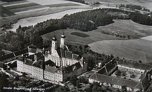 Roggenburg Abbey - Roggenburg Abbey seen from the air