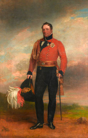 Rowland Hill, 1st Viscount Hill - Lieutenant-General Rowland Lord Hill, 1819. Canvas by George Dawe