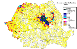 Romano-catolici Romania (2002).png