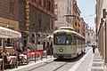 Rome tram 7027 door smalle straatjes (35483728450).jpg